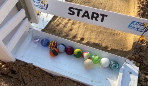 Desperate Sports Fans Are Watching Marbles Race On the Viral List