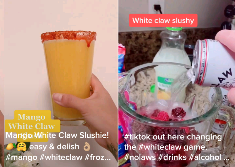 How TikTok Made White Claw Slushies the Drink of COVID, on The Viral List
